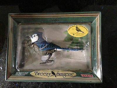 Takara Breezy Singers Bird Songs in Motion BlueJay Authentic New in Box