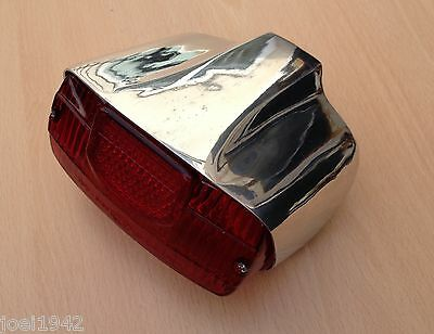 LAMBRETTA LI SERIES 2 POLISHED ALLOY REAR LIGHT UNIT. scootRS  NEW