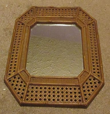 "Vintage 1982 Burwood Homco ? 17"" X 12 1/2"" Brown Mirror Molded Resin Home Decor"