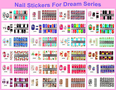 New Manicure Decoration Nail Art Full Wraps Stickers Decals Acrylic DIY Dream