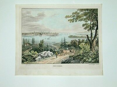 New York Amerika USA Lithographie 1835