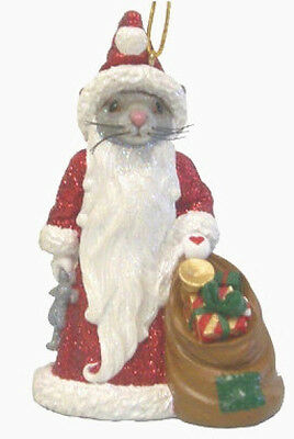December Diamonds SANTA MOUSE ORNAMENT Retired!