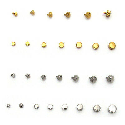 Watch CROWNS & WINDERS Silver & Gold Parts 3mm to 7mm Waterproof Stainless Steel