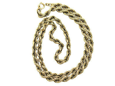Antique Victorian 9 ct Yellow Gold Chain Necklace