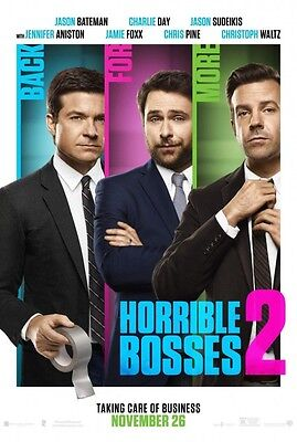 Horrible Bosses 2 - original DS movie poster - 27x40 D/S Adv