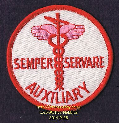 LMH PATCH Badge  SEMPER SERVARE Always Protect Serve WOMENS AUXILIARY Hands Wing