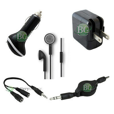 """5 pc USB Car+Wall Charger+Headphone for Microsoft Surface Pro 1 2 3 10.6"""" 12.0"""""""