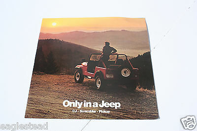 Auto Brochure - AMC - Jeep - CJ Scrambler Pickup - 1984 - OS (AB418)