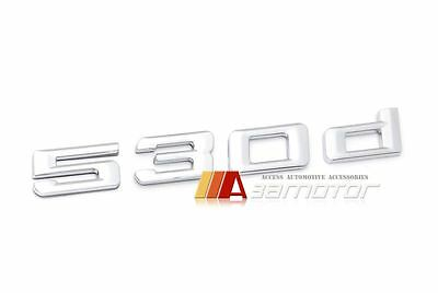 Chrome BMW 5 series F10 530d Boot Trunk Emblem Badge Decal Letter Sticker