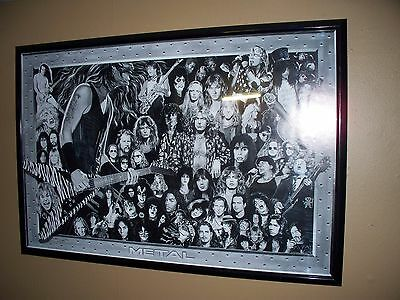 Heavy Metal Heroes Poster 24 X 36 Every Era Very Cool Kiss GnR Aerosmith Lemmy