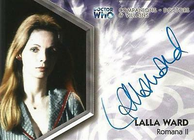 Dr Doctor Who Trilogy Auto Card DWT-A2 Lalla Ward as Romana II