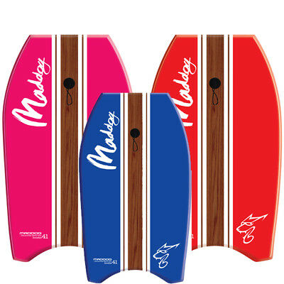 "Maddog Boost Surf Body Boogie Board 33"" With Leash"
