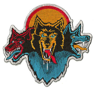 Patch écusson patche 3 loups thermocollant musique rock brodé