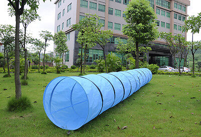 XXL agility tunnel Weave dog training obedience exercise 500cmx60m blue Tube
