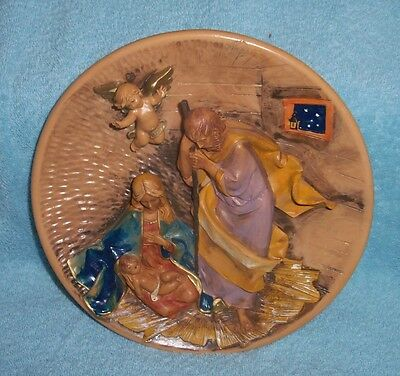 Fontanini A King Is Born First Annual Limited Edition Christmas Plate 3-D