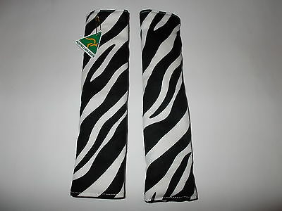 Seat Belt Covers - Padded - Zebra Print - 24cms in length approximately