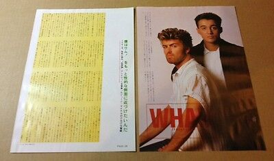1986 Wham! 2pg 1 photo JAPAN mag article / clipping cuttings george michael m03r