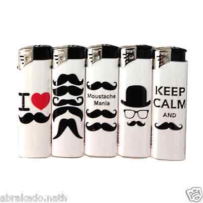 lot de 5 Briquets Prof Moustaches rechargeable