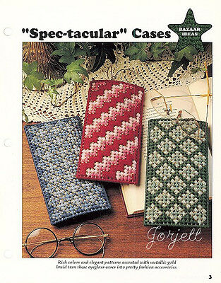 Spectacular Eyeglass Cases plastic canvas patterns