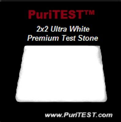 White Acid Test Stone Testing Scratch Pad Sterling Silver old .925/999 Bar/Coins