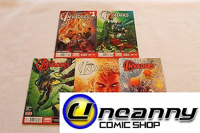 All New Invaders 1 2 3 4 5 Complete Comic Lot Run Set 1st Print Collection NM