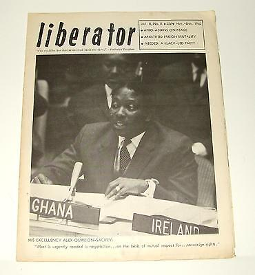 1962 LIBERATOR VOL. 11, NO. 11 - LIBERATION COMMITTEE FOR AFRICA