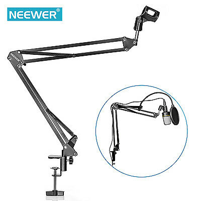 Neewer Mic Microphone Suspension Boom Scissor Arm Stand for Studio Recording