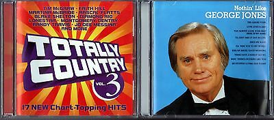 Totally Country, Vol. 3 by Various Artists (CD) & Nothin' Like George Jones (CD)