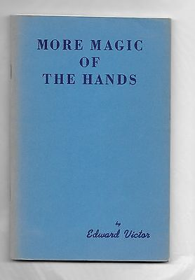 VINTAGE 1970 EDWARD VICTOR MORE MAGIC OF THE HANDS BOOK