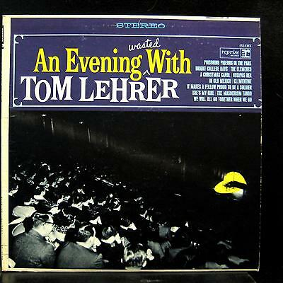 TOM LEHRER an evening wasted with LP VG+ RS 6199 Reprise Stereo Vinyl  Record