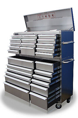"""40 Us Pro Massive Tool Chest Cabinet Box Stainless Steel 54"""" Finance Available"""
