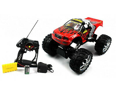 1/10 CRAWLER KING 4WD RADIO CONTROLLED EP MONSTER TRUCK RTR RC CAR RED NEW