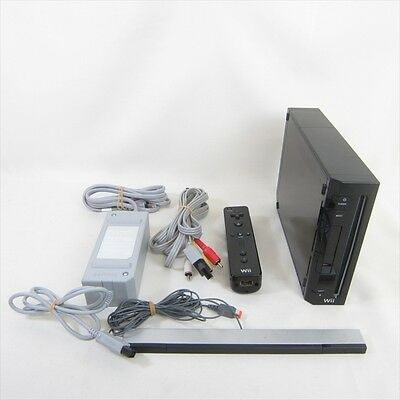 Nintendo Wii Black Console System RVL-001 Working Tested Import JAPAN Game 0963