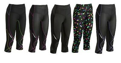 New CW-X Stabilyx Compression Tights 3/4 Capri Women Lady ALL SIZES & COLORS