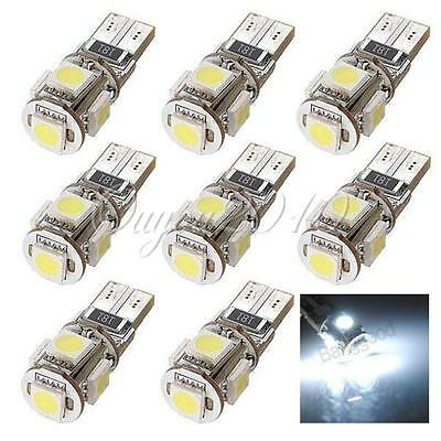10x T10 W5W 501 168 194 5 LED 5050 SMD Blanc Canbus ANTI SANS ERREUR ODB Voiture
