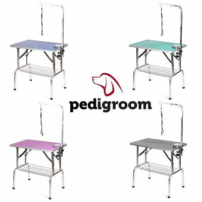 Pedigroom stainless steel dog pet cat grooming show portable mobile table + arm