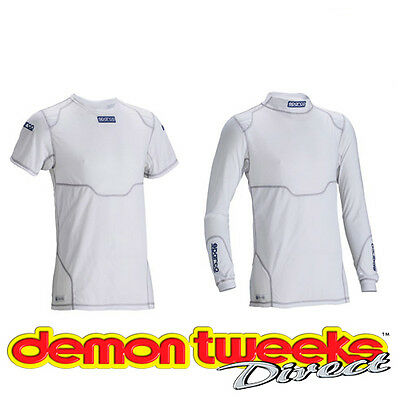 Sparco White Pro Tech KW-7 Base Layer Top / Underwear For Kart/Go Kart/Karting