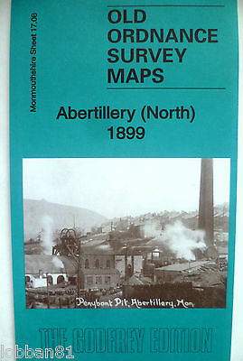 OLD ORDNANCE SURVEY MAPS ABERTILLERY (NORTH) MONMOUTHSHIRE  1899 Godfrey Edition