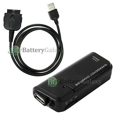 Portable Battery Charger+USB Data Sync Cable for Dell Axim x50 x50v x51 x51v