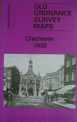 OLD ORDNANCE SURVEY MAPS CITY CHICHESTER SUSSEX 1932 Godfrey Edition New