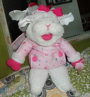 "1990 Shari Lewis  Lamb Chop 12"" Girl Baby Puppet with Pacifier"