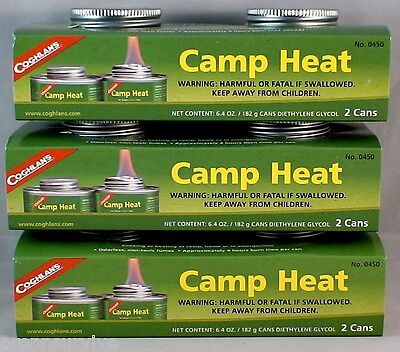 6 Cans Camp Heat, Sterno Type Emergency Stove Fuel 4-6 Hr Burn, Re-Closeable #2
