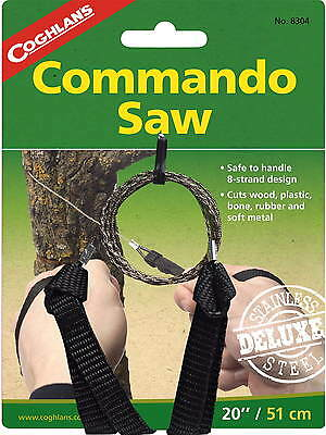 Commando Wire Saw Whandles-8 Strand Cut Wood, Plastic, Rubber, Soft Metal Bone2