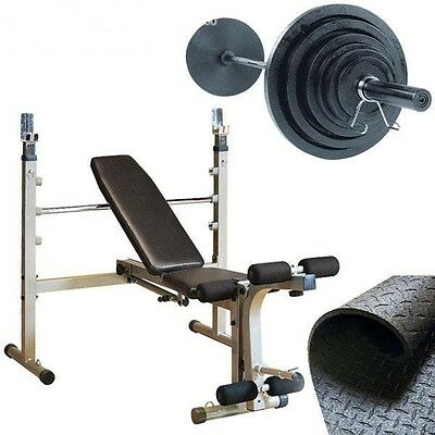 Golds Gym Olympic Weights Set 190lbs W Tsa 5758 Bench