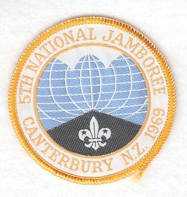 BSA Boy Scout Patch - 5th National Jamboree, New Zealand - woven