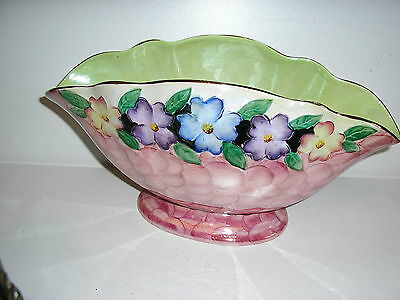 PRETTY  CERAMIC MALING  LUSTRE WARE WINDOWSILL PLANTER/BOWL