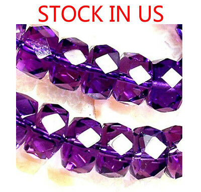 6x9mm Faceted Amethyst Roundlle Beads 25pcs