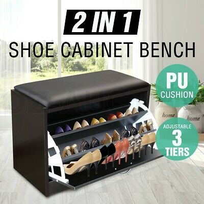 25 Pairs 5 Drawers Mirrored Shoe Cabinet Shoes Rack Mirror Storage Organiser WH