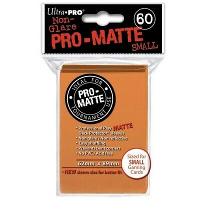 ULTRA PRO 60 PRO MATTE-SMALL SIZE ORANGE DECK PROTECTOR SLEEVES 84266 fit YuGiOh