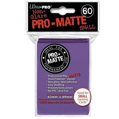 ULTRA PRO 60 PRO MATTE-SMALL SIZE PURPLE DECK PROTECTOR SLEEVES 84269 fit YuGiOh